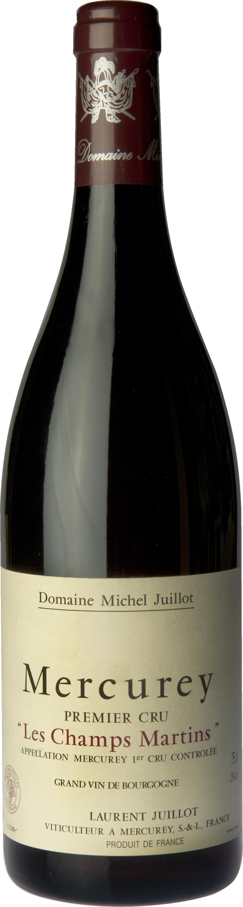 Domaine Michel Juillot bouteille de Mercurey Rouge Premier Cru Les Champs Martins