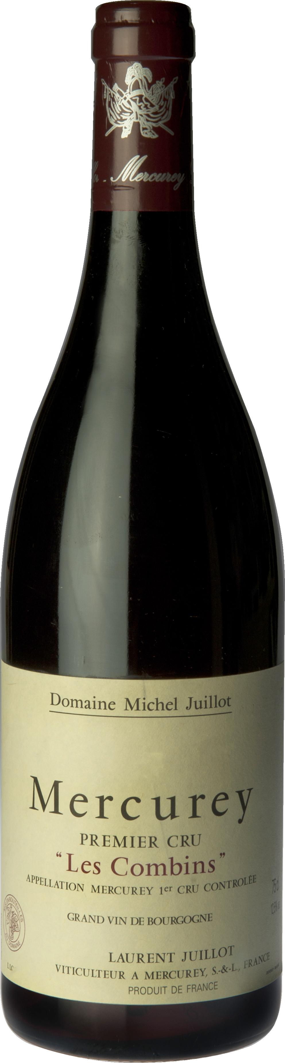 Domaine Michel Juillot bouteille de Mercurey Rouge Premier Cru Les Combins