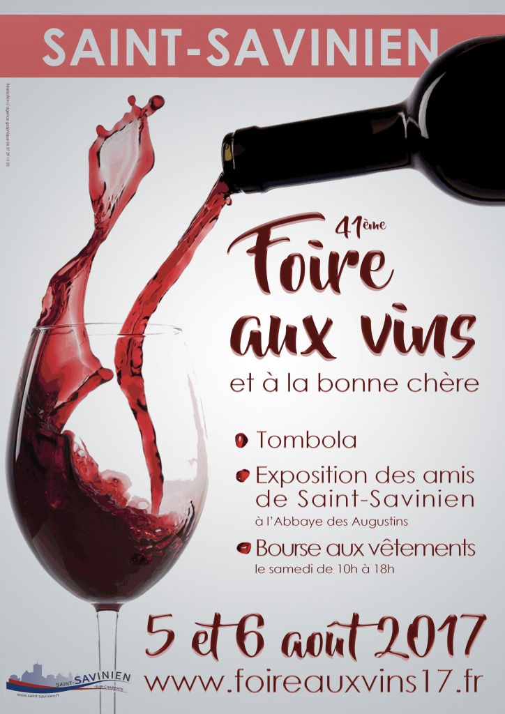 Affiche foire aux vins St Savinien 2017