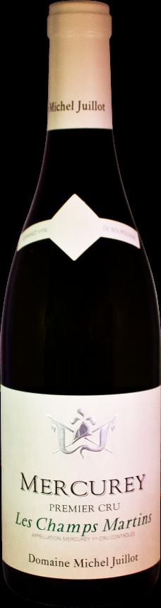 Domaine Michel Juillot bouteille de Mercurey blanc premier cru Les Champs Martins