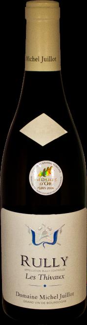 Domaine Michel Juillot bouteille de Rully blanc Les Thivaux